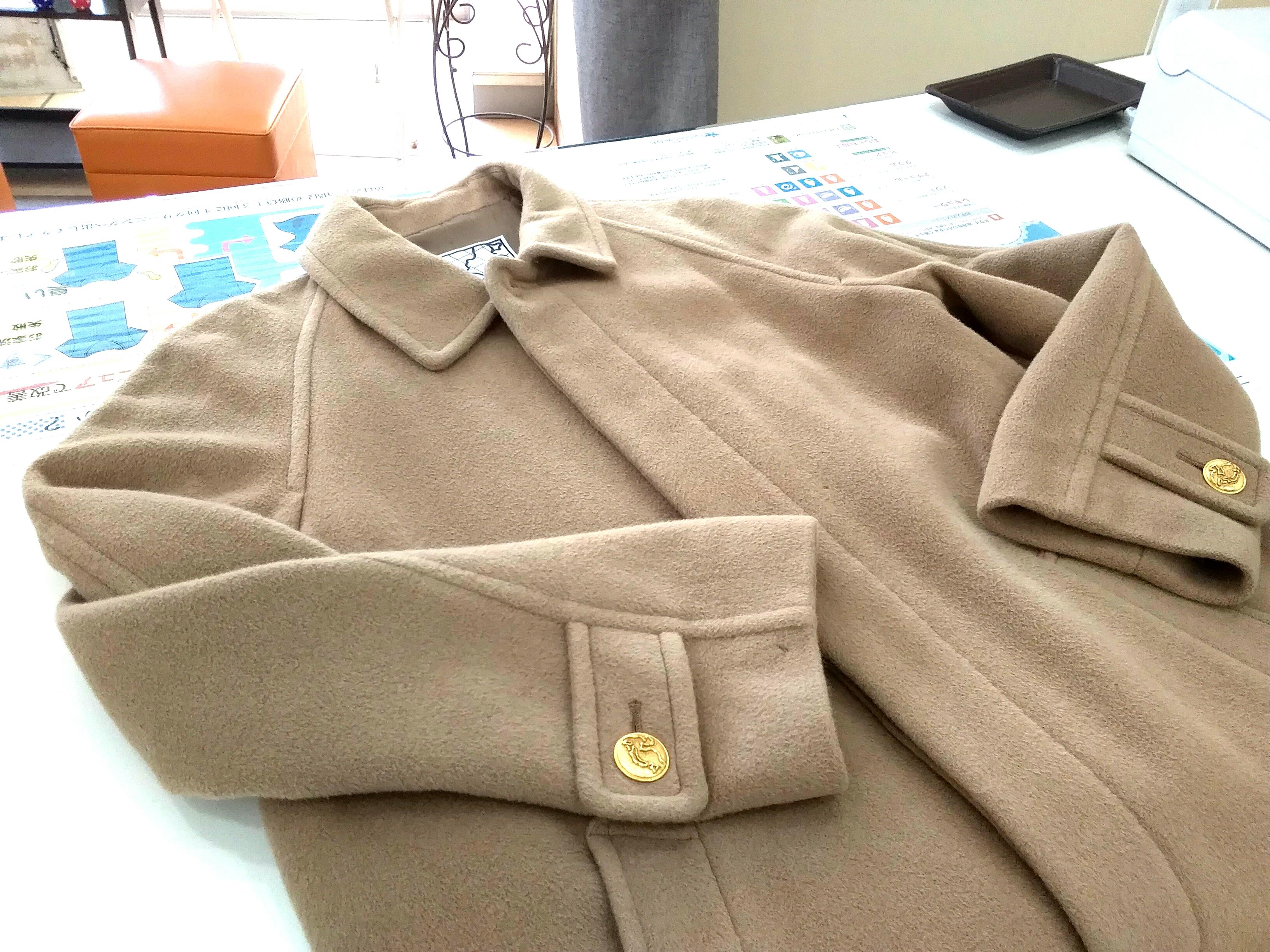 ≪ラグラン袖のコート~肩山をなだらかに~≫